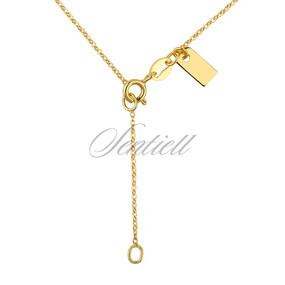Silver (925) necklace withopen-work  round pendant and heart - gold-plated