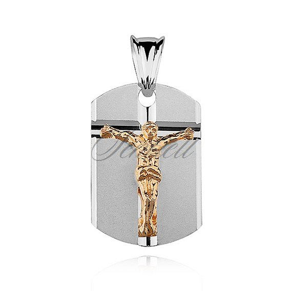 Silver (925) pendant -Jesus Christ on cross, gold-plated