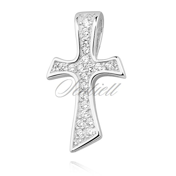 Silver (925) pendant cross with zirconia