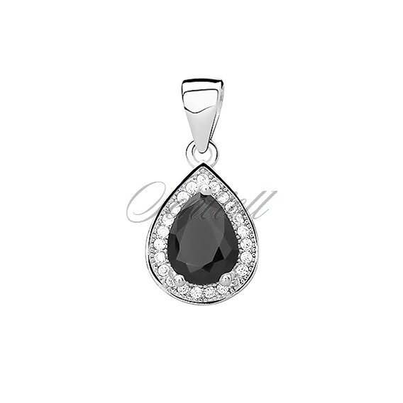 Silver (925) pendant with black zirconia