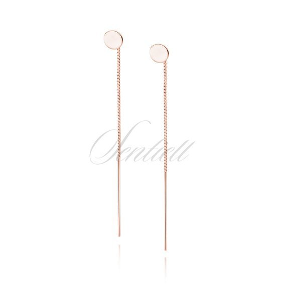 Silver (925) rose gold-plated earrings circles