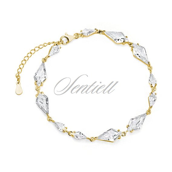 Silver (925) stylish, bridal, bracelet with zirconia