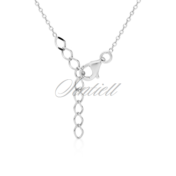 Silver (925) stylish, bridal necklace with zirconia.