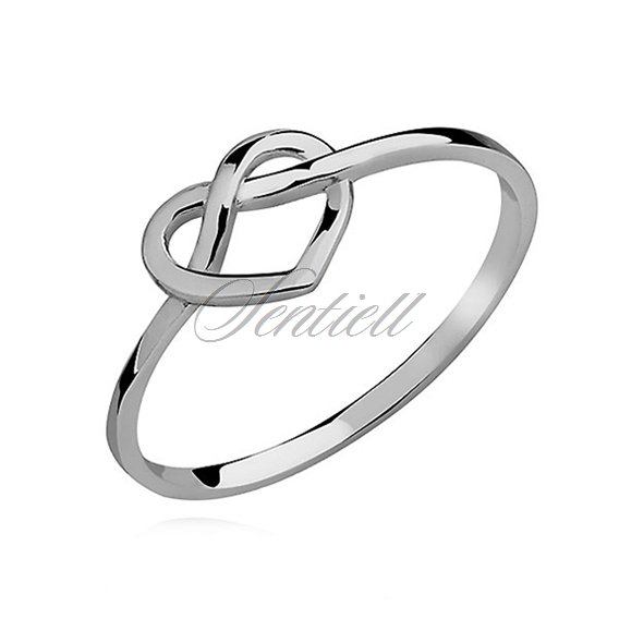 Silver (925) subtle ring - heart