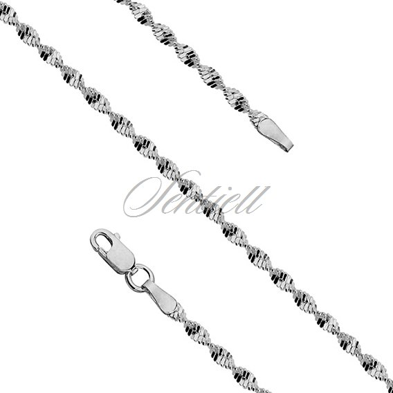Silver (925) twisted chain bracelet Ø 030 weight from 2,1g
