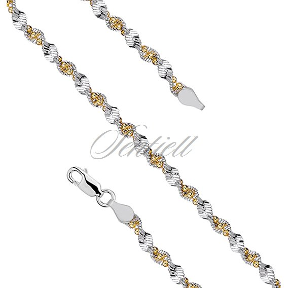 Silver (925) twisted chain bracelet with balls Ø 040