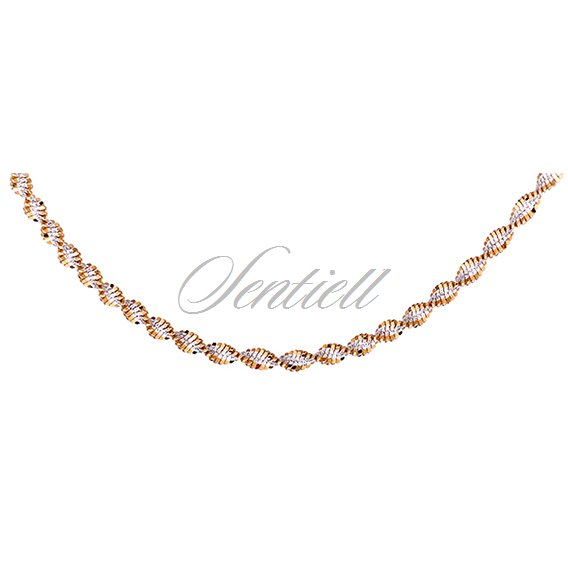Silver (925) twisted chain necklace Ø 035 weight from 5,6g