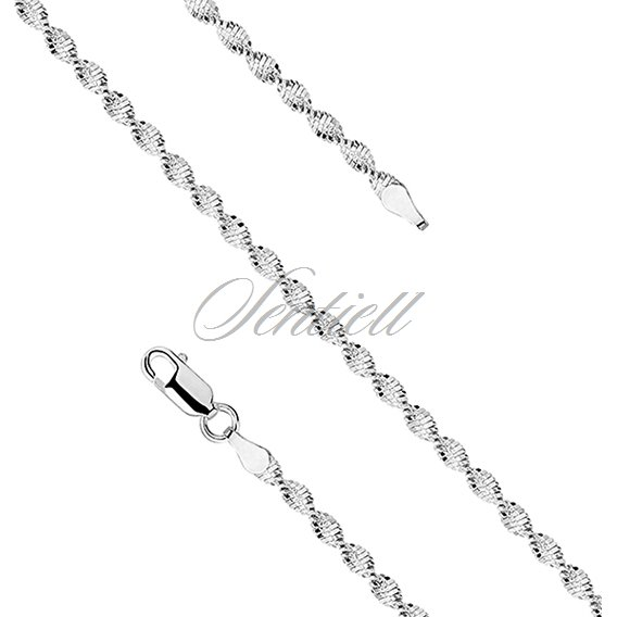 Silver (925) twisted chain necklace Ø 035 weight from 6,0g