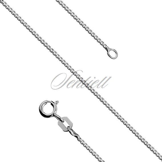 Silver (925) venezian chain necklace  - box diamented  Ø 015