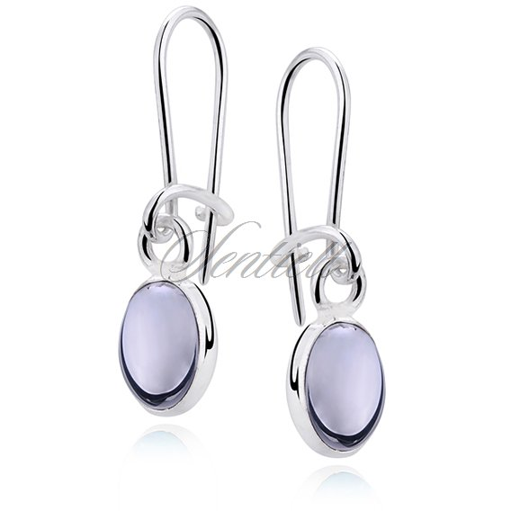 Silver earrings 925 Hematite