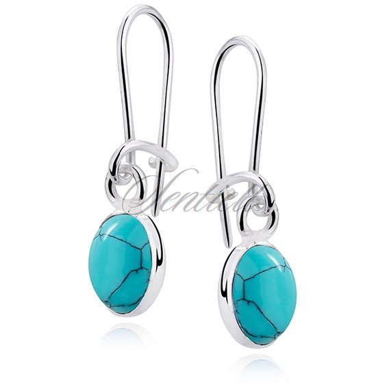 Silver earrings 925 Turquoise
