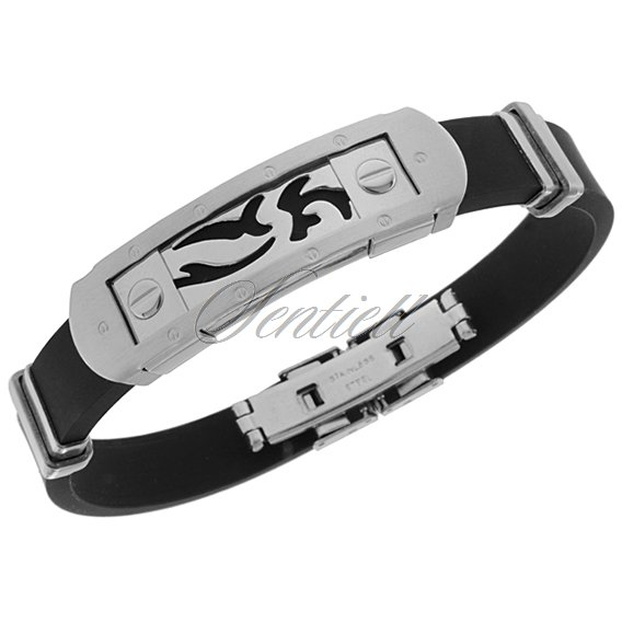 Stainlesss steel (316L) bracelet with a pattern