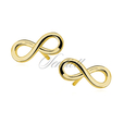 Silver (925) earrings Infinity gold-plated
