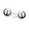 Silver (925) earrings balls 10mm