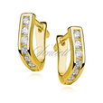 Silver (925) earrings white zirconia gold plated