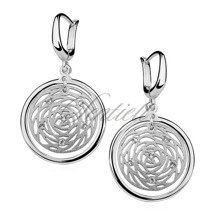Silver (925) earrings witch open work elements