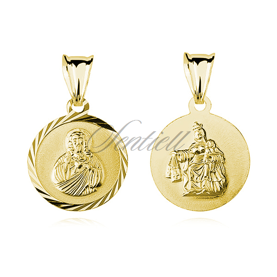 Silver (925) gold-plated pendant Jesus Christ / Scapular Mary